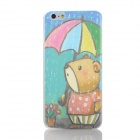 Cartoon Bear Pattern Protective PC Back Case for IPHONE 6 PLUS - Green + Golden + Multi-Color