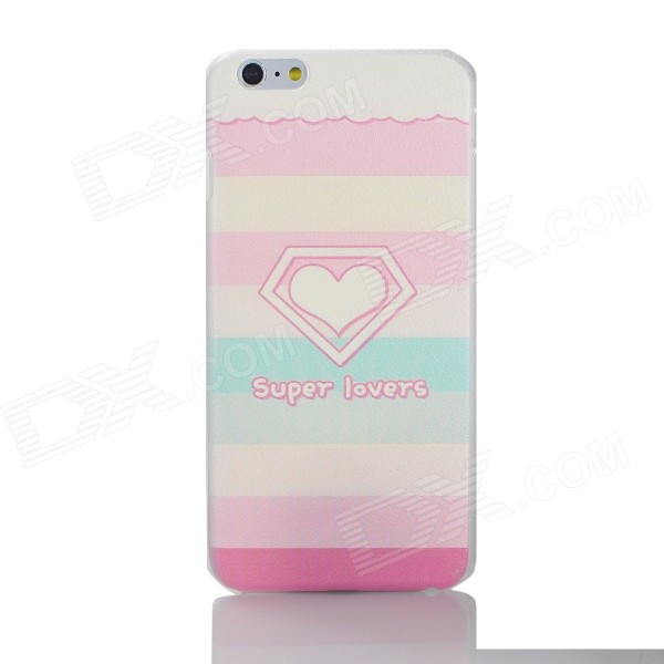 Cartoon Series PC Back Case for IPHONE 6 PLUS - Pink + Deep Pink