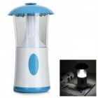 Rechargeable 77lm 6900K 24-LED Cool White USB Powered Touch Lamp - White + Blue