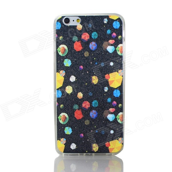 Cartoon Pattern PC + TPU Terug Case voor iPhone 6 PLUS - Multi-Color
