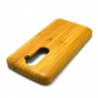 Retro Style Detachable Protective Bamboo Back Case for LG G2 - Yellow