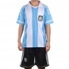 Argentina National Football/Soccer Team Sports Suit - XXXL (Blue + White + Black)