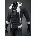 Xd80w05 Men's Zipper Hoodies Jacket - Gray (XL)