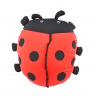 Lovely Beetle Ladybug Style Bolster Pillow - Black + Red