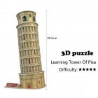 DIY 3D Leaning Tower Puzzle Jigsaw Toy - Golden + Black