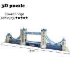 DIY 3D Tower Bridge Puzzle Jigsaw Toy - Golden + Weiß