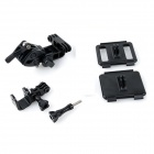 Multi-purpose Outdoor Sports ABS Clamp Mount Set for GoPro Hero 3 / 2 - Black