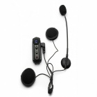 BT-S1 Bluetooth V3.0 Мотоцикл / Мотоцикл Шлем Интерком гарнитуры ж / FM - черный