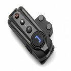 BT-S1 Bluetooth V3.0 Motorcycle Helmet Intercom Headset w/ FM - Black