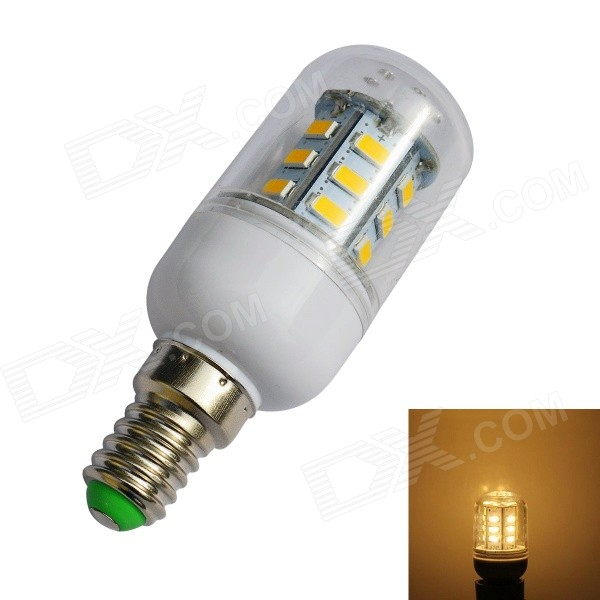 JIAWEN E14 4W 500lm 3200K 24-SMD 5730 LED Warm White Light Corn Lamp Bulb (AC 220V)
