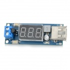 "DIY USB Power Step-down Module w/ 0.4"" Screen Display - Dark Blue"