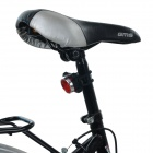 USB recargable 100lm blanco 3-LED 4-Mode bicicleta luz - negro + rojo