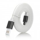 Magnetic Micro USB 5-Pin Fast Charging Data Sync Cable for Samsung / HTC & More - White + Black (1m)