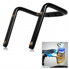 Creative Bike Bicycle Saddle Tail Mounted Aluminum Alloy Dual Water Bottle Holder - Black