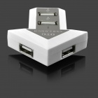 Arrow Shape 4-Port USB 2.0 OTG Hub for Smartphone & Computer - White