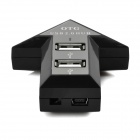 Arrow Shape 4-Port USB 2.0 OTG Hub for Smartphone & Computer - Black