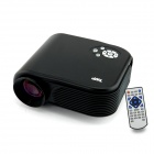 TWP HX868 Portable 12W LED Mini Projector w/ USB / HDMI / TV / VGA / SD - Black (US Plug)