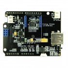 LiPo Battery Based Energy Power Shield Development Conversion Board for Arduino - Black + Blue