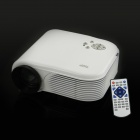 TWP HX868 tragbare 12W LED Mini Projector w / USB / HDMI / TV / VGA / SD - White (US Stecker)