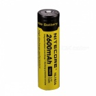 NiteCore Rechargeable 3.7V 2600mAh 18650 Li-ion Battery - Black + Yellow