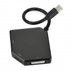 Mini DP Thunderbolt to VGA & HDMI & DVI Adapter Converter Cable - Black