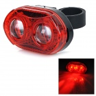 2-LED 3-Mode Red Light Bike Bicycle Tail Warning Lamp - Red (2 x AAA)