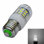 E27 4W 500lm 6000K 24 x SMD 5730 LED White Light Corn Lamp Bulb - White(AC 220V)