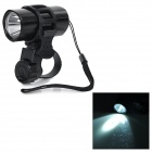 50lm White Light 3-Mode LED Bike Bicycle Handlebar Mounted Headlight Headlamp - Black (2 x CR2032)