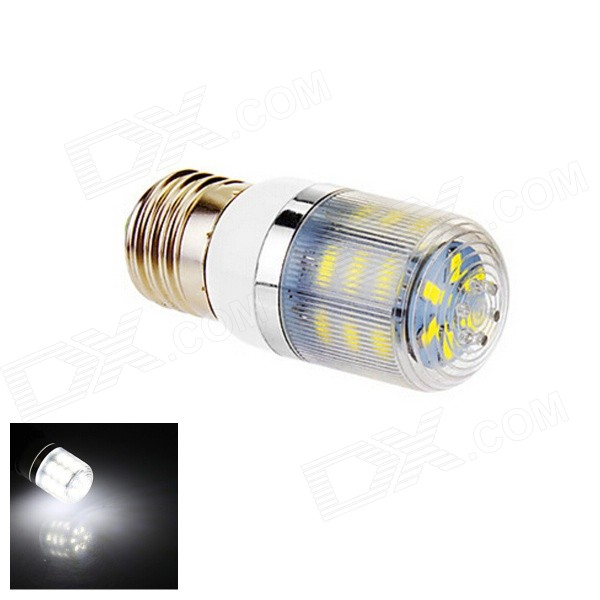 E27 4W 170lm 6500K 24-SMD 5630 LED White Light Lamp Bulb (220V)