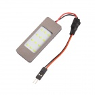 T10 31mm ~ 42mm 12W 300lm 12-LED Light Car Dome / lesing lys
