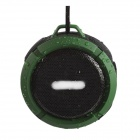 C6 IP65 Waterproof Explosion-Proof Bluetooth V3.0 Speaker w/ Handsfree / 3.5mm / TF - Army Green