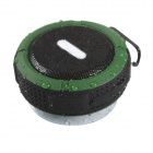 C6 IP65 Waterproof Bluetooth V3.0 Speaker w/ TF Slot - Army Green