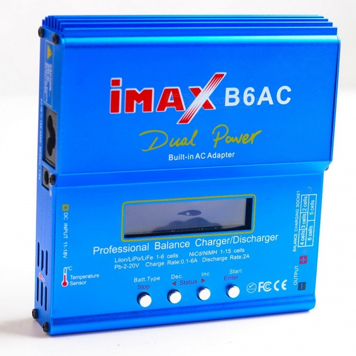 iMAX B6AC 80W 2.6 LCD RC Lipo Battery Balance Charger (100-240V/EU Plug) 10pcs 10cm 100mm rc lipo battery balance charger cable 2s 3s 4s 5s 6s 22awg cable silicon wire plug for imax b3 b6