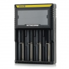 "NiteCore D4 Universal 3.3"" LCD 4-Slot Rechargeable Battery Charger - Black (EU Plug)"
