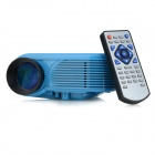 Portable 12W LED Mini Projector w/ HDMI / TV / VGA / SD / USB / AV / 3.5mm - Blue (EU Plug)
