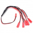 JST 1-to-5 Silicone Charging Cable - Black + Red (30cm)