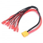 1-to-9 XT60 Female to JST Male Charging Cable - Black + Red (27cm)