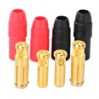 AS150 Male + Female Spark-Proof Copper + ABS Connetors Set - Black + Golden + Red