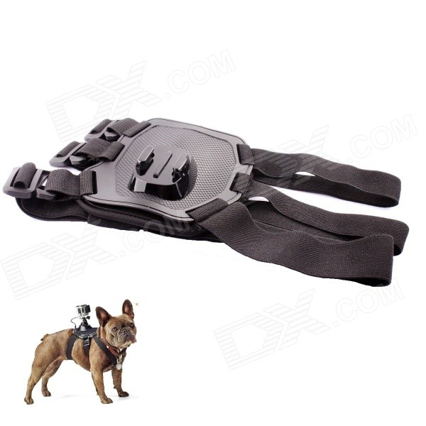 PANNOVO Pet Dog Chest Shoulder Strap Mount for GoPro - Black