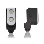 80' 4W 6000K 250lm 2-LED White Light Video Lamp for Camera - Black
