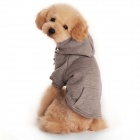 Warm Cotton Hooded Fleece Coat for Pets / Dogs - Gray (Size S)