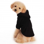 Warm Cotton Hooded Fleece Coat for Pets / Dogs - Black (Size S)