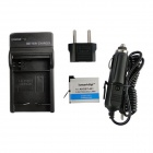 Ismartdigi 401 3.8V 1160mAh Battery + Battery Charger + EU Adapter + Car Charger for GoPro Hero 4