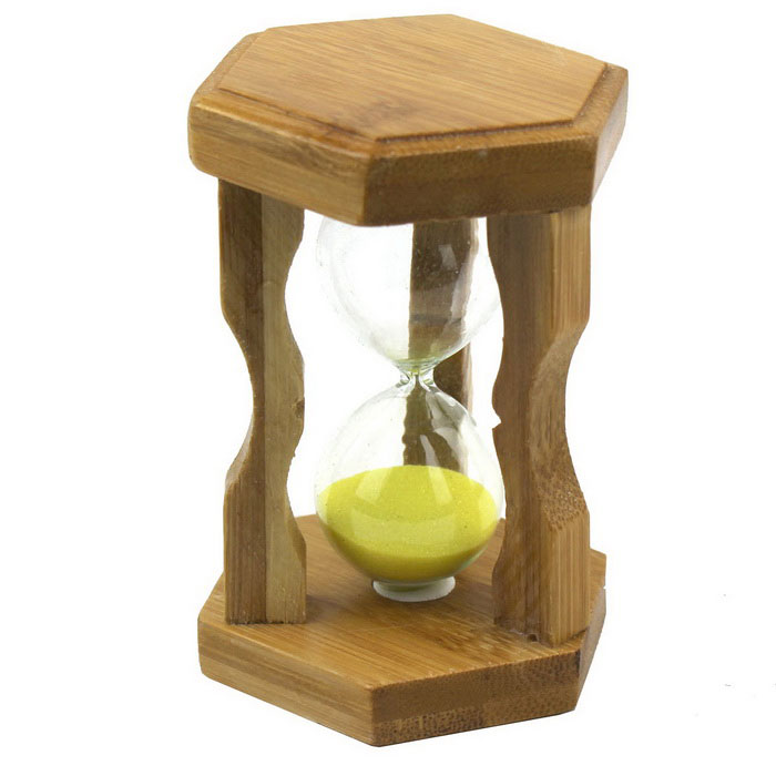 Stylish Home Furnishing Small Hourglass - Wood + Purple