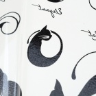 YM-K130 Fashionable Sexy Cat Pattern Tattoo Paper Sticker - Black