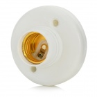 HH219 E27 LED Light Lamp Bulb Holder Base - White