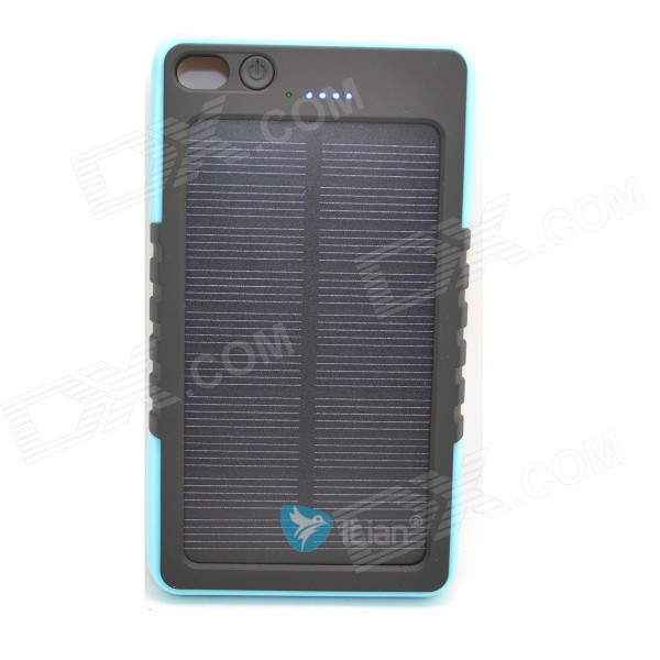 Itian 8000mAh Solar Power Bank - Blue