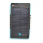 Itian 8000mAh Dustproof Shockproof Water Resistant Li-polymer Battery Solar Power Bank - Blue