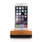 SAMDI 2460C Wooden Charger Dock for IPHONE 6 / 5S / 4S - Black + Brown