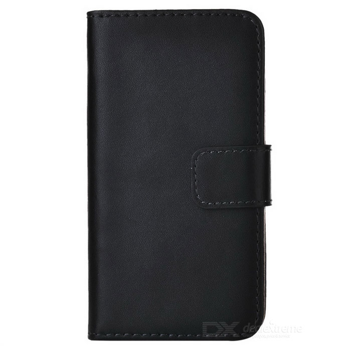 Flip-Open Leather Case w/ Stand for Sony Xperia Z3 Compact - Black